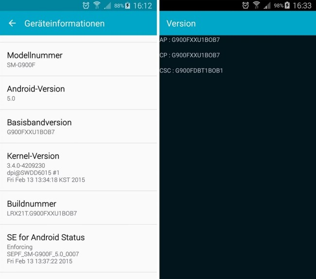 Samsung Galaxy S5 Update Lautlos Modus