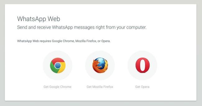 WhatsApp Web Firefox Opera