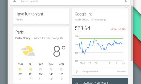 Google Now Chrome App Launcher