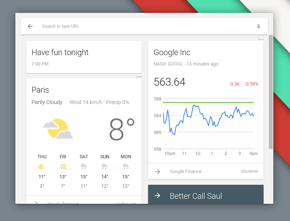 Google Now Chrome App Launcher