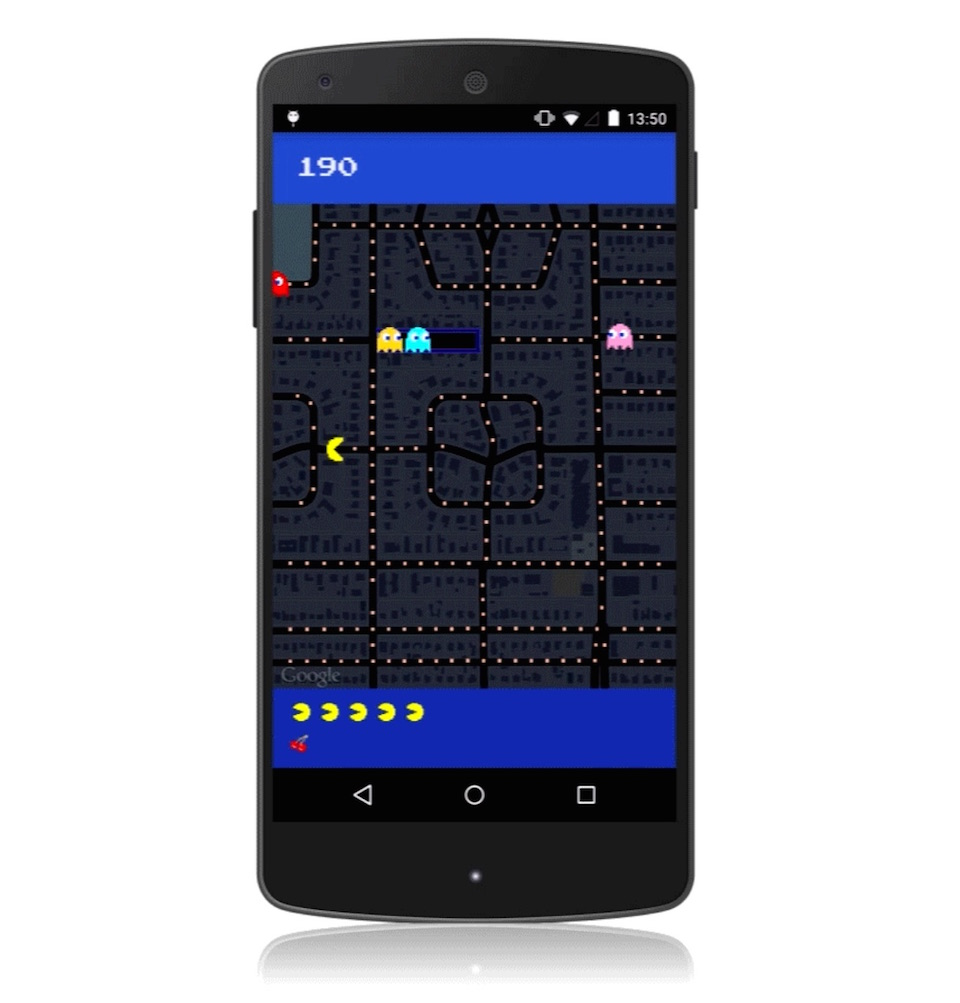 Maps Pac Man Android
