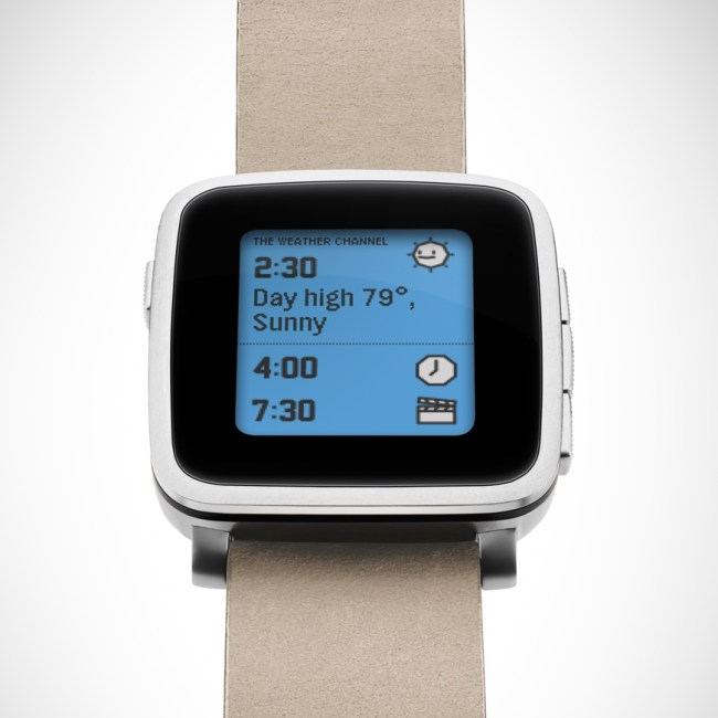 Pebble Time Steel Silber
