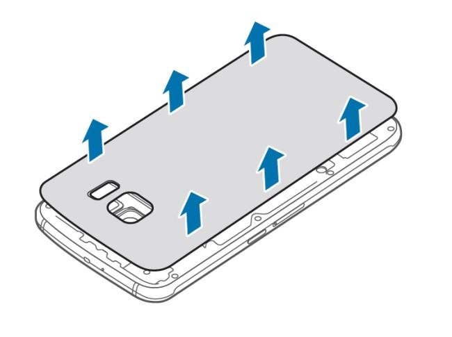 Samsung Galaxy S6 Batterie entfernen