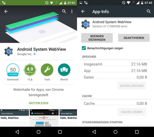 android system webview apk old