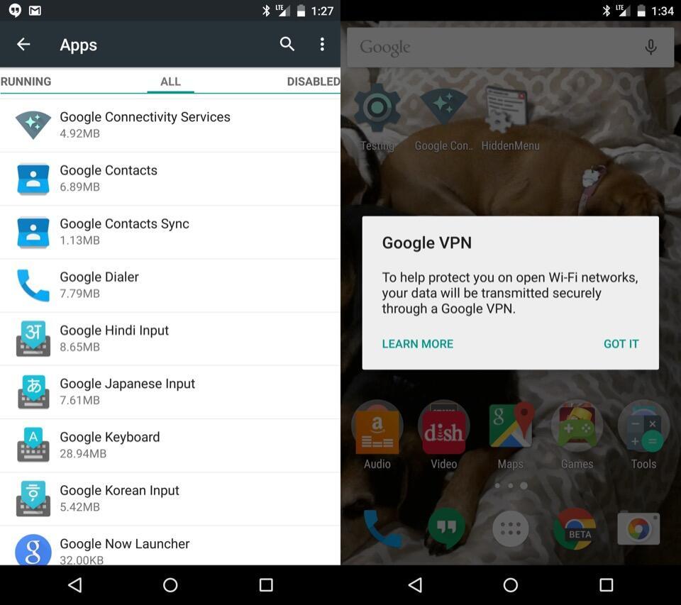 Google VPN in Android 5.1 Lollipop entdeckt