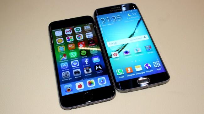 iphone 6 samsung galaxy s6 edge