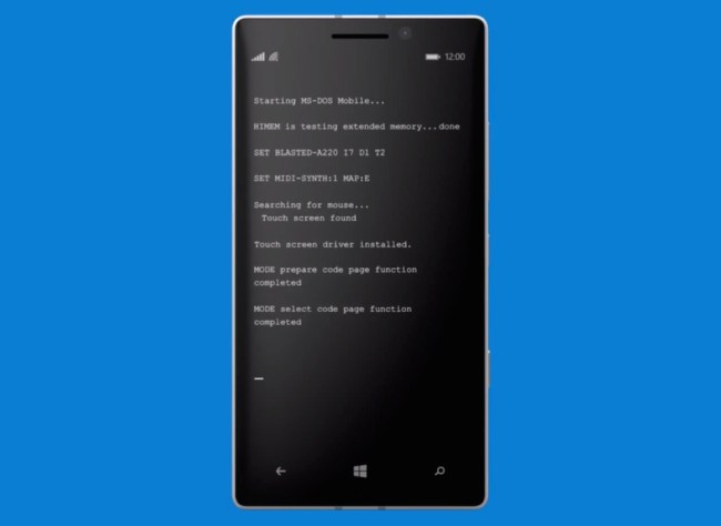 MS DOS Mobile