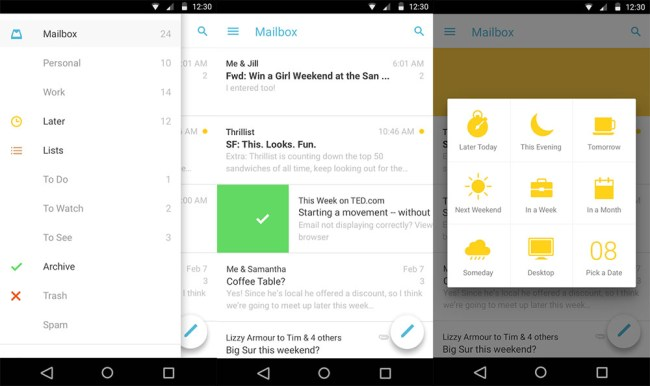 Mailbox Android Material-Design