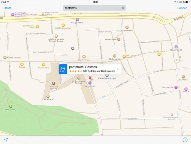 apple maps booking com