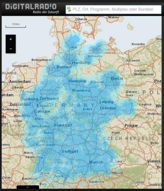digitalradio abdeckung deutschland