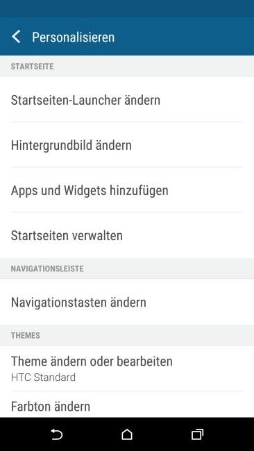 HTC One M9  personalisieren