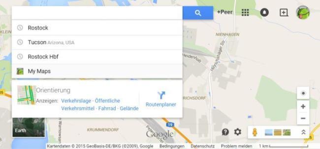 google maps alt