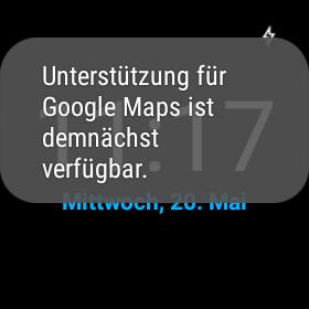 google maps g watch demnächst