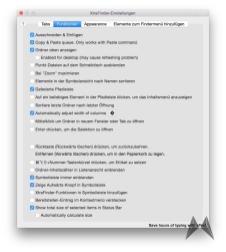 XtraFinder OSX Einstellungen 2