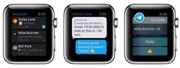 telegram apple watch
