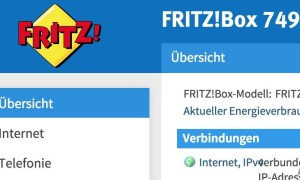 FRITZ!Box 7490 Labor Firmware Oberfläche