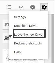 Leave the new Drive