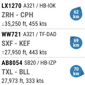 flightradar 24 android wear liste