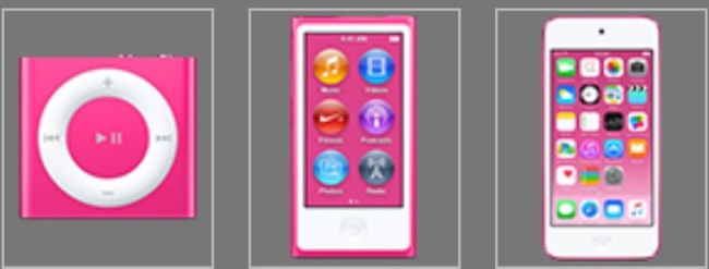 iPods 2015 Pink