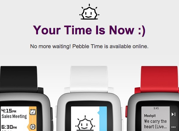 pebble time verkauf