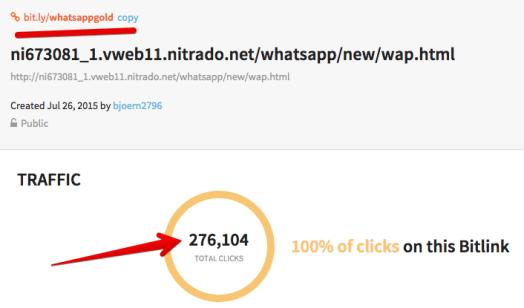 whatsapp bitly link gold fake
