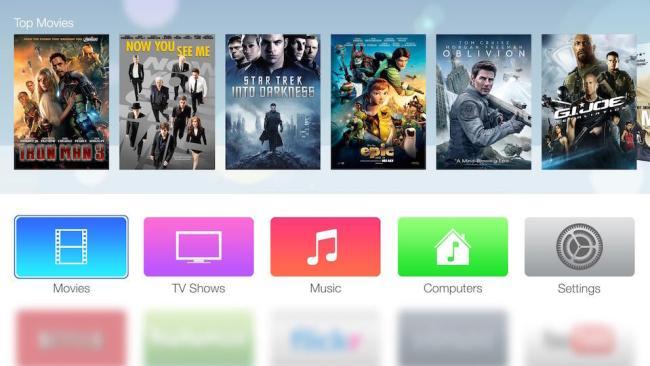 Apple TV OS Mockup