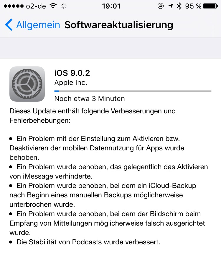 Apple iOS Update