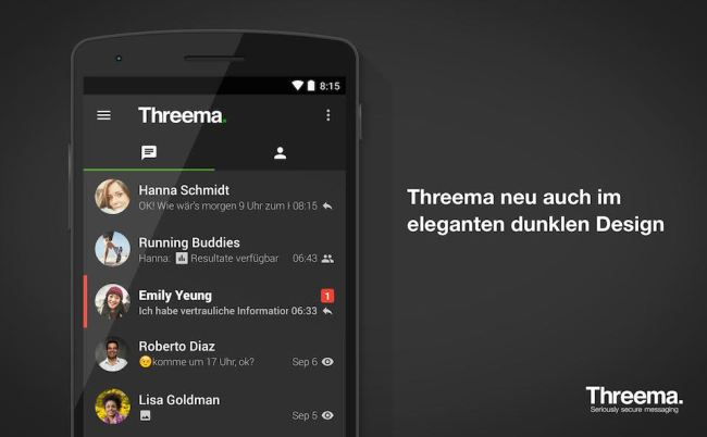 Threema Design Dunkel