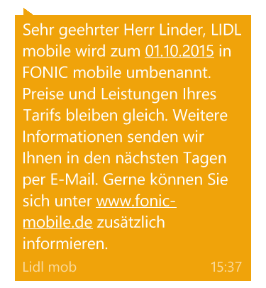 lidl mobile sms fonic