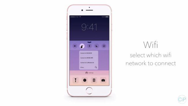 3d touch control center wifi
