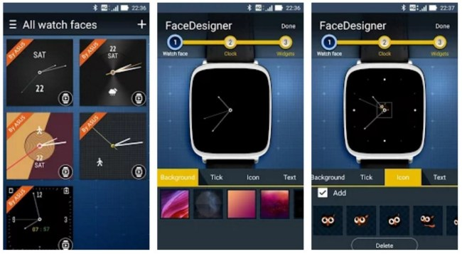 Asus ZenWatch FaceDesigner
