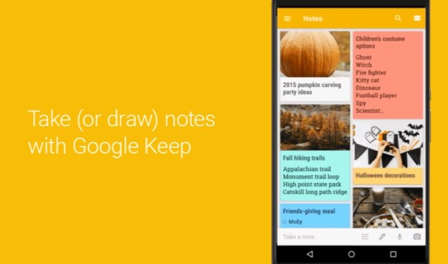 Google Keep Sketch
