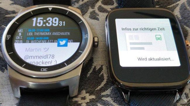 LG G Watch R und ASUS ZenWatch 2