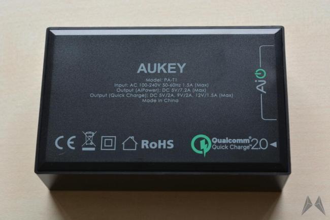 aukey 5 port rückseite