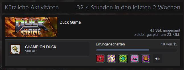 duck game spielzeit
