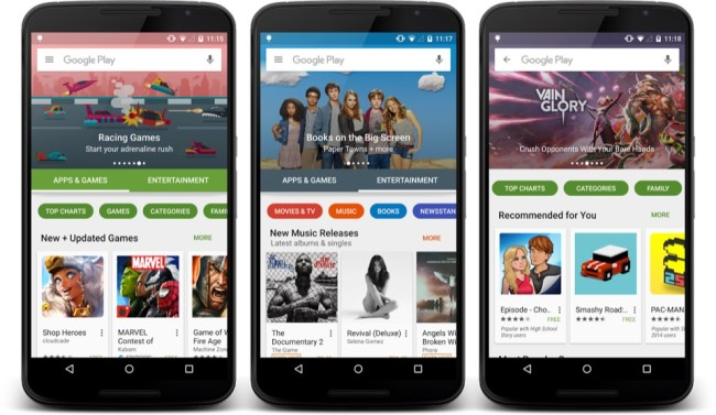 google play redesign 2015 2