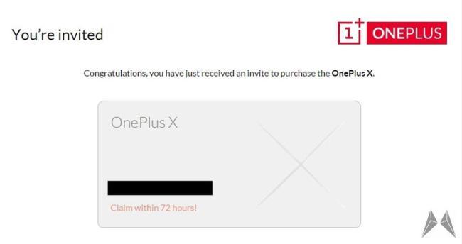 oneplus x invite 72h