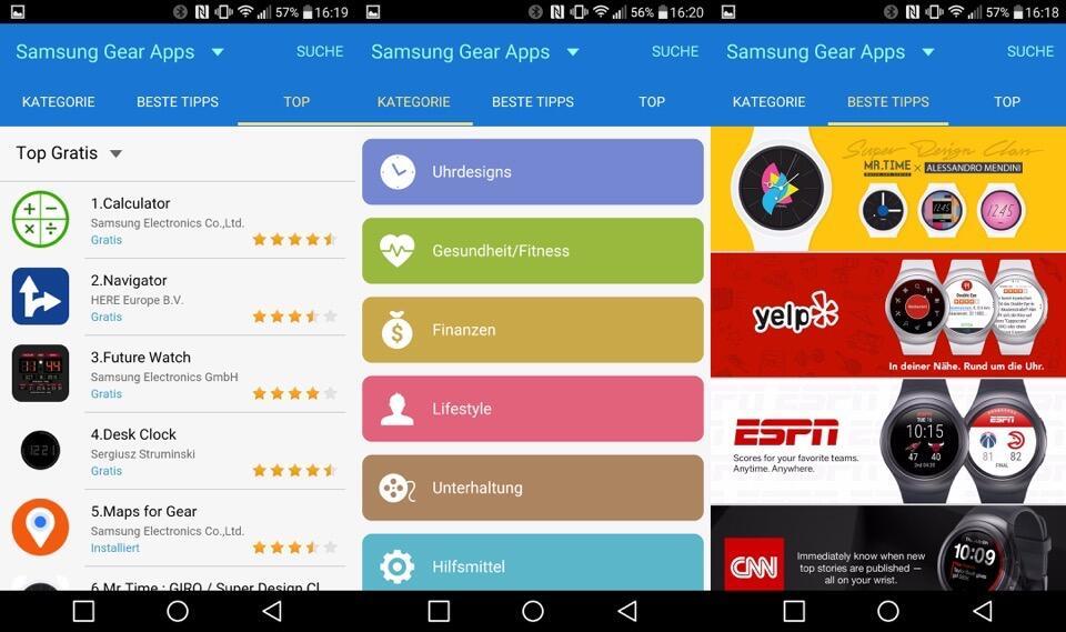 Samsung Gear S2 Appstore