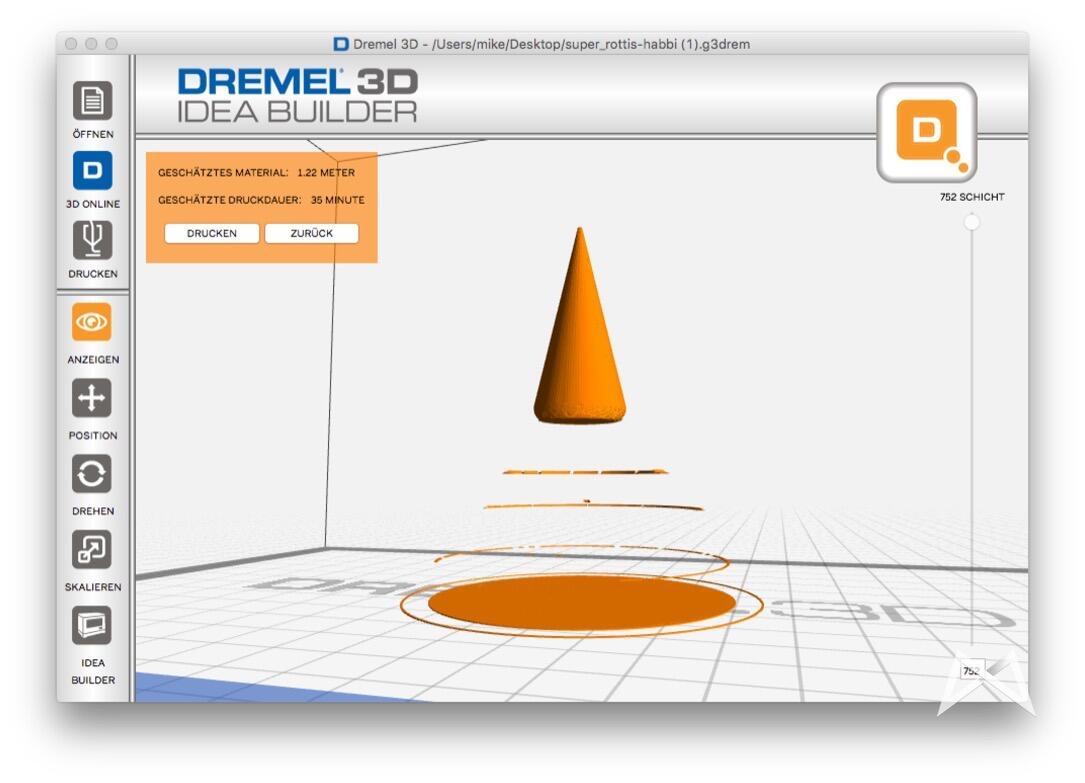 Dremel 3D Builder defekte STL