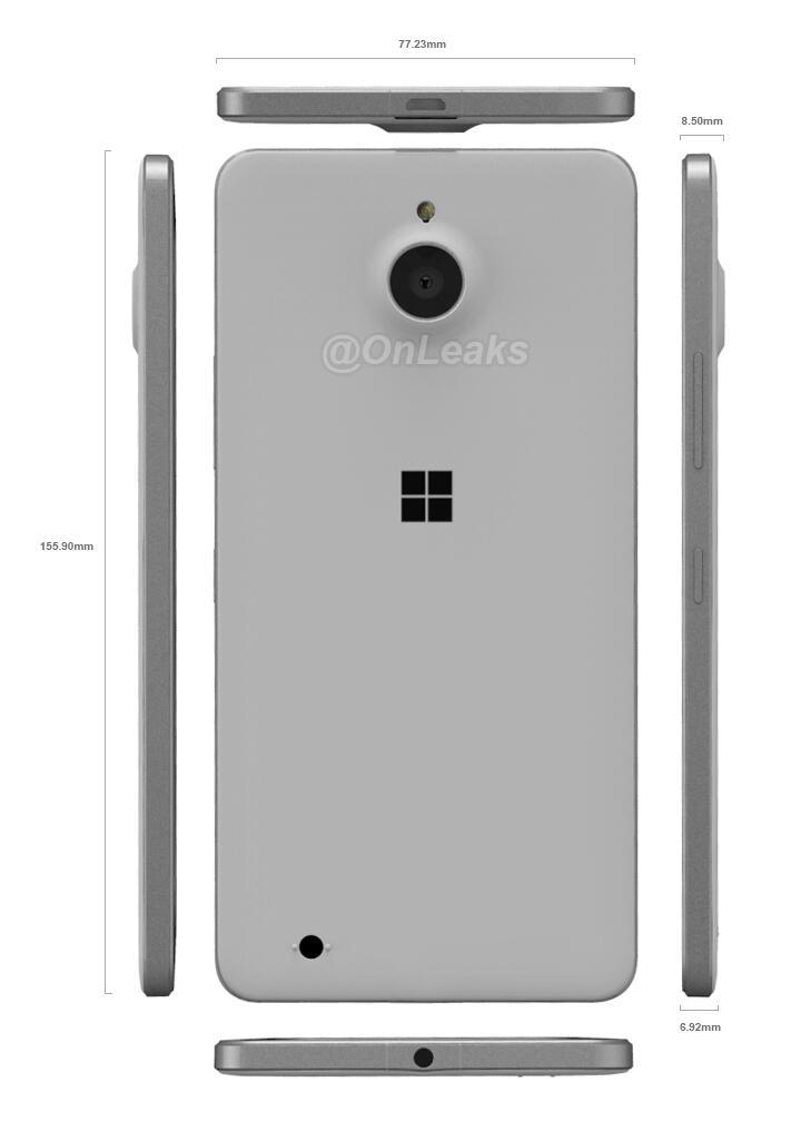 Lumia 850 Render