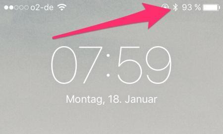 Apple iPhone Akkuanzeige