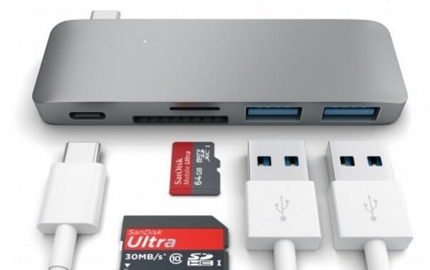 Satechi USB Typ-C Hub schleift die Stromversorgung durch