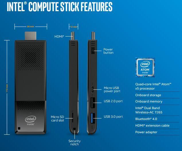 compute stick atom x5
