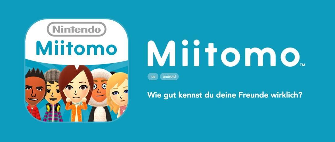 Miitomo App Header