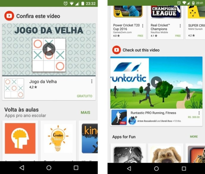 google play promo video clips