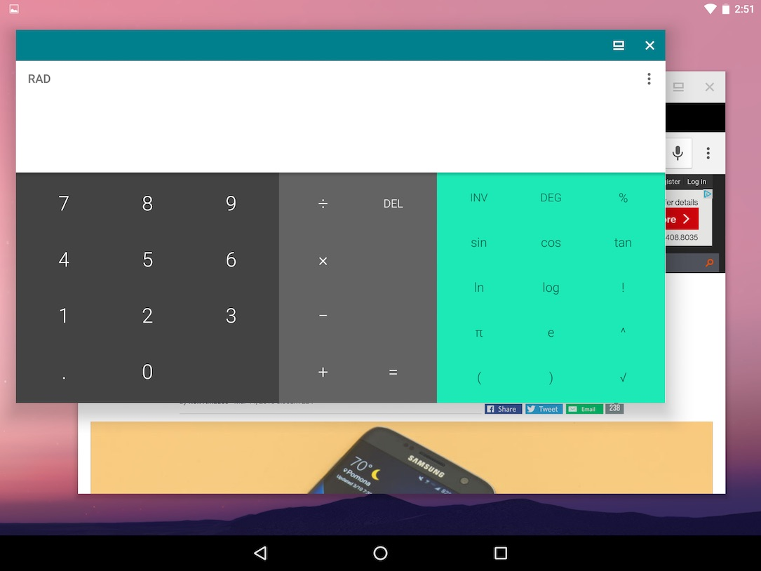 Android N Freeform Window Mode3