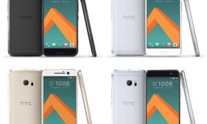 HTC 10 Farben
