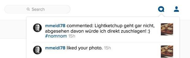 Instagram Web Benachrichtigungen