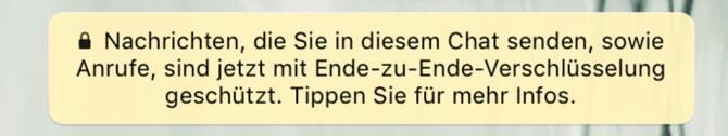whatsapp ende zu ende