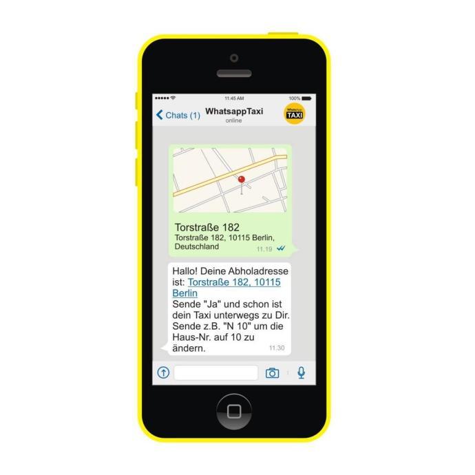 whatsapp taxi phone